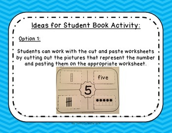 I Can Show Numbers - Representational Posters/Anchor Charts, Cut & Paste, Assess