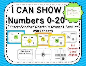 I Can Show Numbers - Representational Posters/Anchor Chart