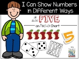 I Can Show Numbers in Different Ways - Five - an Anchor Chart