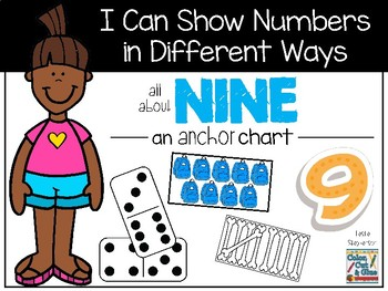 I Can Show Numbers in Different Ways - Nine - an Anchor Chart