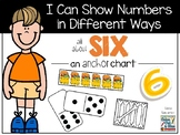 I Can Show Numbers in Different Ways - Six - an Anchor Chart
