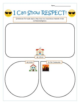 I Can Show RESPECT - Character Value Worksheet