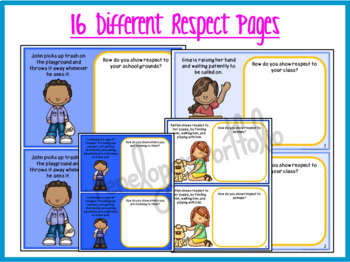 Respect Activity:  Respect Mini Book