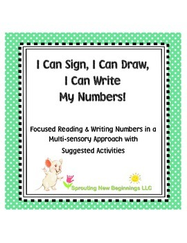 ASL - I Can Sign, I Can Draw, I Can Write My Numbers