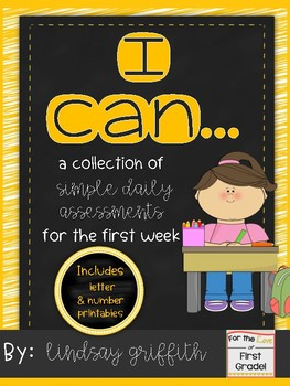 I Can... {Simple Daily Assessments for the First Week}