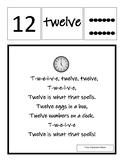 I Can Sing and Spell the Number Words 0-12 Classroom Song Posters