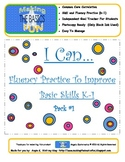 I Can... Skill and Fluency Timings for K-1
