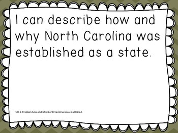 I Can Social Studies Statements With North Carolina Essential Standards