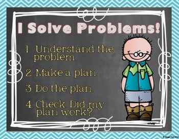 """I Solve Problems!"" Posters {Problem-solving Process}"