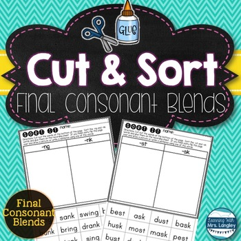 I Can Sort Final Consonant Blends