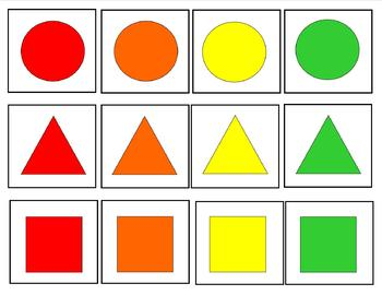 I Can Sort & Match : 15 Interactive Shape & Color Card Games