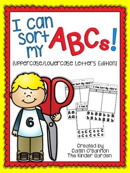 I Can Sort My ABCs! {Uppercase/Lowercase Letters Edition}