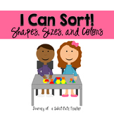 I Can Sort! Size, Color, and Shapes Pack