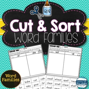 I Can Sort Word Families