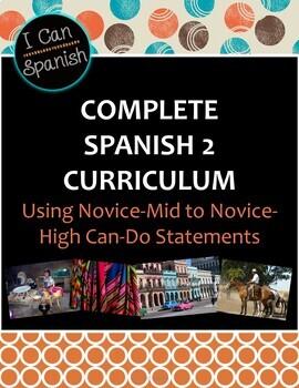 I Can Spanish 2 Curriculum Materials
