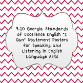 """I Can"" Speaking and Listening Statements  from GSE for ELA"