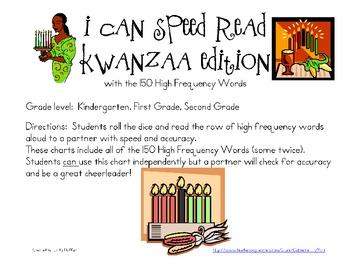 I Can Speed Read {Kwanzaa Edition}