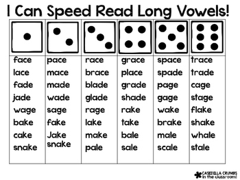 I Can Speed Read Long Vowel Words  Reading Game