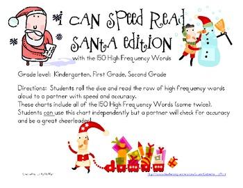 I Can Speed Read {Santa}