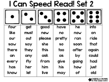 I Can Speed Read Sight Words Reading Game