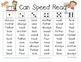 I Can Speed Read {Treasures Unit Six}