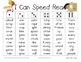 I Can Speed Read {Treasures Unit Three}