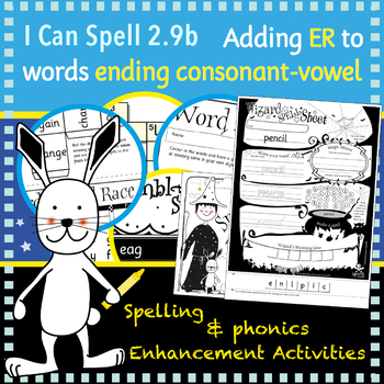 I Can Spell: Age 5-7 | Adding ER to words ending consonant-vowel