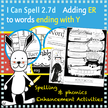 I Can Spell: Age 5-7 | Adding ER to words ending with Y