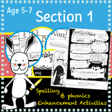 I Can Spell: Age 5-7 Section 1   No Prep Extension Activities