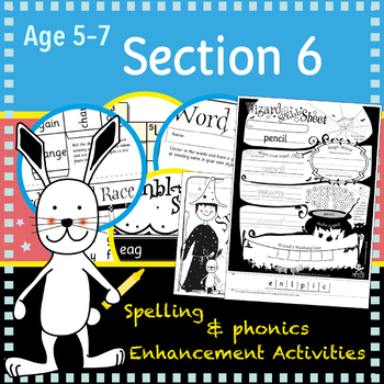 I Can Spell: Age 5-7 Section 6 | No Prep Extension Activities