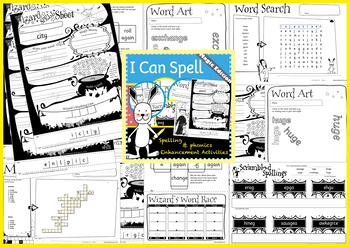 I Can Spell: Age 5-7 Section 9 | No Prep Extension Activities