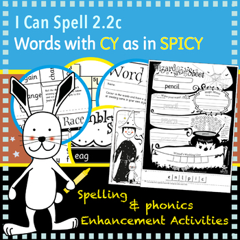 I Can Spell: Age 5-7   Words with CY as in SPICY