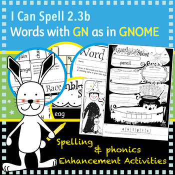 I Can Spell: Age 5-7 | Words with GN as in GNOME