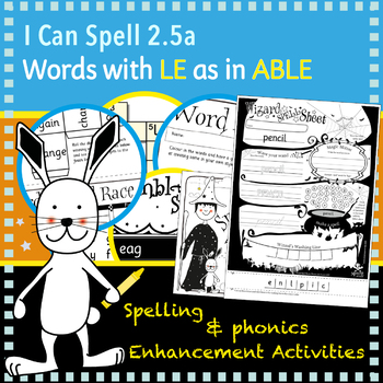 I Can Spell: Age 5-7 | Words with LE as in ABLE