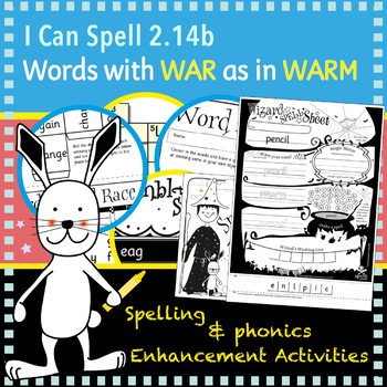 I Can Spell: Age 5-7 | Words with WAR as in WARM