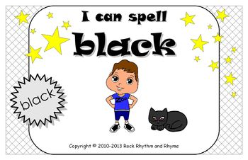 I Can Spell Black – Literacy and Reading Unit