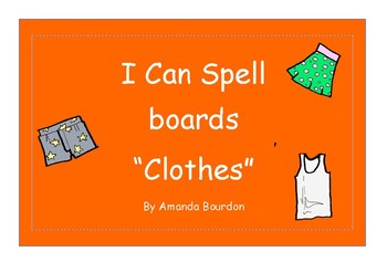I Can Spell Board - Clothes
