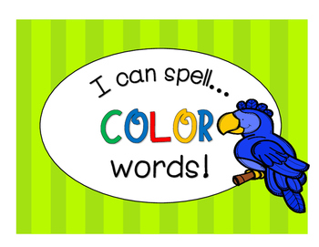 Spelling - I Can Spell Color Words!