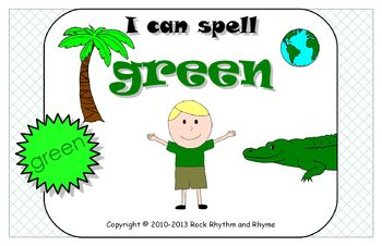 I Can Spell Green – Literacy and Reading Unit