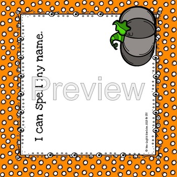 I Can Spell My Name Lapbook (Halloween Theme)