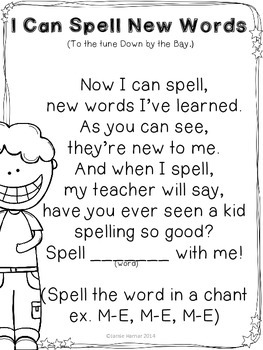 I Can Spell New Words Song