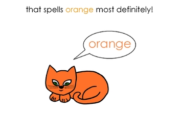 I Can Spell Orange – Literacy and Reading Unit