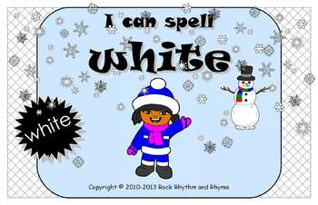 I Can Spell White – Literacy and Reading Unit