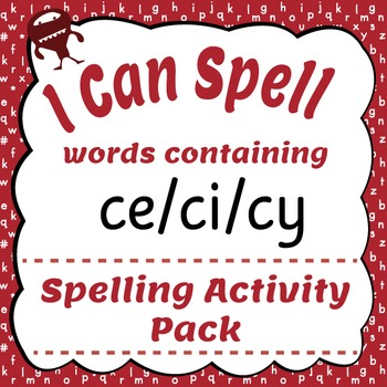 I Can Spell: Words Containing ce/ci/cy