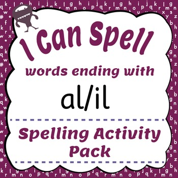 I Can Spell: Words Ending with al/il