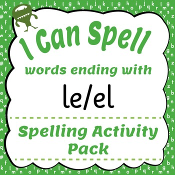 I Can Spell: Words Ending with le/el