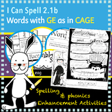 I Can Spell: Words ending with ge/dge