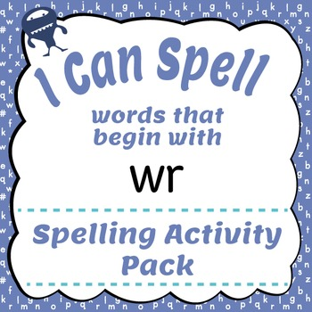 I Can Spell: Words that Begin with wr