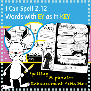 I Can Spell: Words with 'EY' as in 'key'