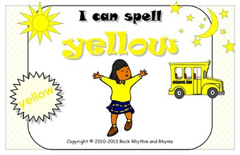 I Can Spell Yellow – Literacy and Reading Unit